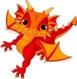 Baby dragon. Illustration of cute cartoon baby dragon Stock Images