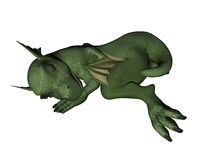 Baby Dragon - sleeping Stock Photo