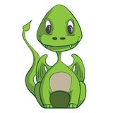 Baby dragon. Vector illustration Royalty Free Stock Photo