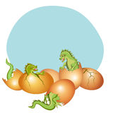 Baby dragons Stock Images