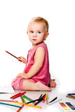 Baby Drawing Royalty Free Stock Photo
