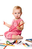 Baby drawing Stock Photos