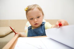 Baby drawing royalty free stock images