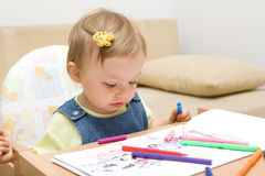 Baby drawing royalty free stock photos