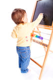 Baby drawing Stock Image