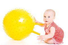 Baby in dress Stock Photos