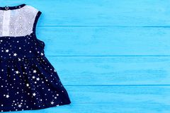 Baby dress and copy space. Stock Image