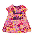 Baby dress with floral pattern Stock Images