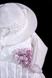 Baby dress with hat Royalty Free Stock Photography