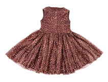 Baby dress with leopard print Royalty Free Stock Images