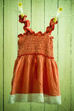 baby dress on a rope Stock Photography