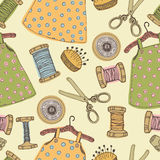 Baby dress seamless pattern Stock Images