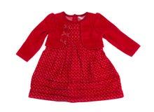 Baby dress, studio, isolate. Reв Baby dress, studio, isolate on a white background Stock Photography