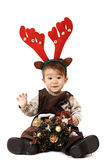 Baby Dressed As A Deer Royalty Free Stock Image