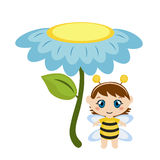 Baby dressed as bee. Royalty Free Stock Photography