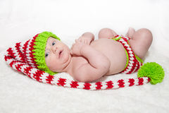 Baby Dressed for the Holidays Royalty Free Stock Image