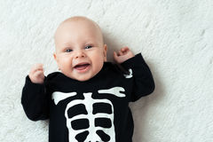 Baby dressed skeleton Stock Photo