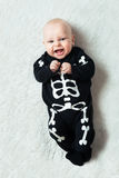 Baby dressed skeleton Royalty Free Stock Photos