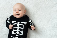 Baby dressed skeleton Royalty Free Stock Photo