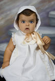 Baby dressed in vintage clothing. Is a baby dressed in vintage clothing Stock Photos