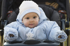 Baby dressed for winter Royalty Free Stock Images