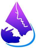 Baby drink logo Royalty Free Stock Photo