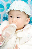 Baby drink water Royalty Free Stock Image