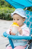 Baby drink water Royalty Free Stock Photos