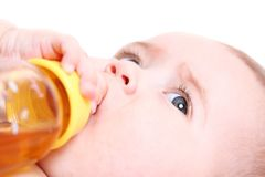 Baby drinking Stock Photo