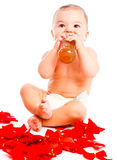 Baby drinking Stock Image