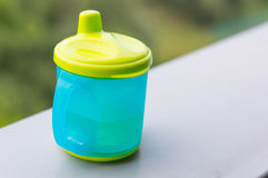Baby drinking cup Royalty Free Stock Photo