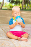 Baby drinking Royalty Free Stock Images