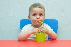 Baby Drinking Milk Royalty Free Stock Photography