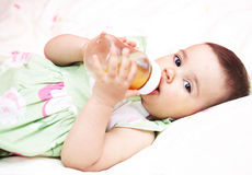 Baby drinking water Royalty Free Stock Image