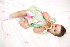 Baby drinking water Stock Photos