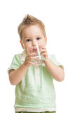 Baby Drinking Water From Glass Stock Photos