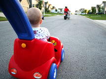 Baby driving car Royalty Free Stock Image