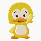 Baby duck. Is waving its left hand at you Royalty Free Stock Image