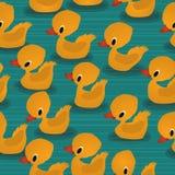 Baby ducks pattern. Baby ducks seamless pattern design Stock Photos