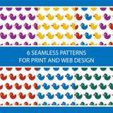 Baby ducks pattern Royalty Free Stock Photos