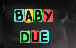 Baby Due Concept royalty free stock photo