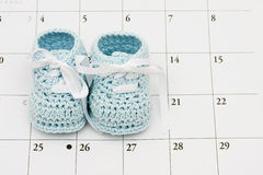 Baby Due Date Stock Photo