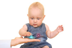 Baby and dummy Royalty Free Stock Image