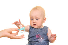 Baby and dummy Stock Photo