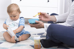 Free Baby During Feeding Stock Photography - 83550262