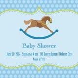 Baby-Duschen-Karte Lizenzfreie Stockfotos