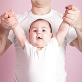 Baby dynamic gymnastics Stock Images