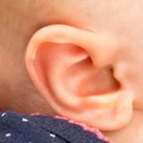 Baby ear Stock Photo