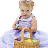 Baby with Easter Basket Royalty Free Stock Photo