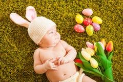 Baby Easter bunny Stock Image
